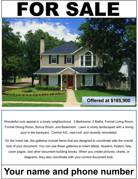 Professional Flyers for our Flat Fee MLS Clients in Virginia VA